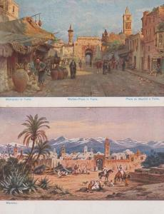 Tunis Place Du Marche Market Place Jerusalem Antique Postcard