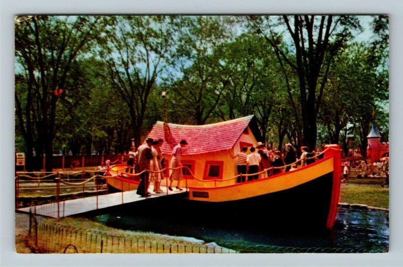 Montreal Quebec-Canada, La Fontaine Garden, Noah's Ark Garden, Chrome Postcard