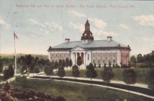 Maryland Port Deposit Memorial Hall & Part Of Italian Garden Jacob Tome Board...