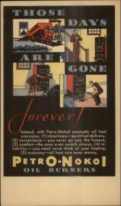 Art Deco Petro Nokol Oil Burners Heating Industry Postal Card c1920s #2 myn
