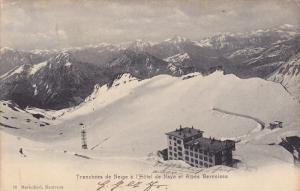 Tranchees de Neige a l'Hotel de Naye et Alpes Bernoises , Switzerland , PU-1903