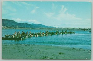 Wedderburn-Gold Beach Oregon~Rogue River Fishing On the Hog Line~c1960 PC