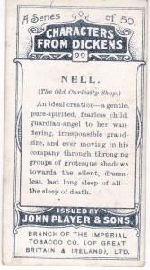 Cigarette Cards Players Characters From Dickens No 22 Nell