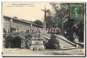 Old Postcard Paray le Monial (S-and-S) Pens Chaplains Calvary
