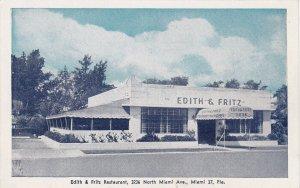 Florida Miami Edith & Fritz Restaurant North MIami Avenue sk4261