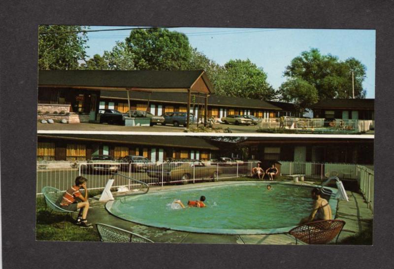 PQ Motel Chateauguay Beauport Quebec QC Postcard Carte Postale Pool Piscine