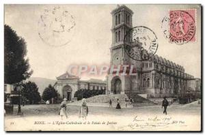 Postcard Old Bone L & # 39Eglise Cathedral And The Palace Of Justice