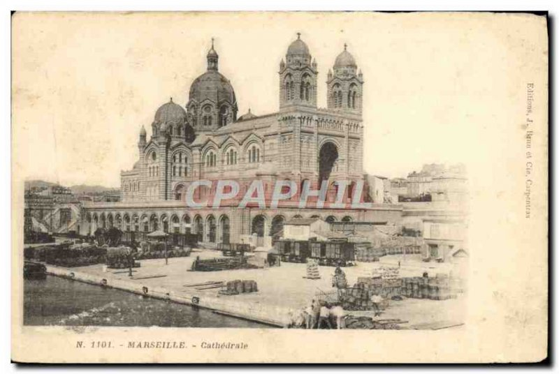Old Postcard Marseille Cathedral