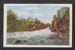 Davis Falls Near Menominee,MI Postcard