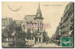 CARTE Post Old Nancy Place and Rue Saint Jean