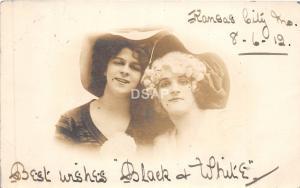 A37/ Kansas City Missouri Mo Real Photo RPPC Postcard 1912 Women Large Hats