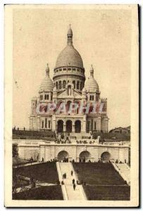 Old Postcard Paris Montmartre Sacre Coeur