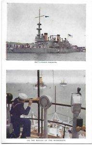 Battleship Oregon & On the Bridge of the Minnesota US Navy