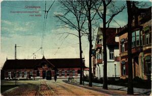 CPA GRONINGEN Noorderstation straat met halle NETHERLANDS (604208)