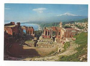 Italy Taormina Sicily Greek Theatre Archaelogy Ruins Postcar