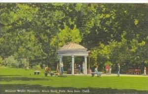 Mineral water Fountain, Alum Rock Park, San Jose, california, PU-1942