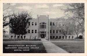 Nampa Idaho Northwest Nazarene College Admin Bldg Antique Postcard K98864
