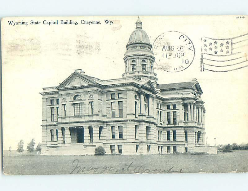 Divided-Back CAPITOL BUILDING Cheyenne Wyoming WY hJ5637