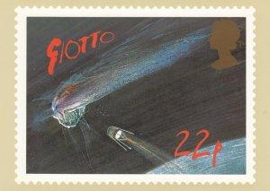 Halley's Comet Stamp postcard 22p