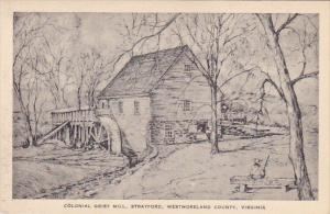 Virginia Westmoreland County Colonial Grist Mill Statford Albertype