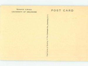 Pre-Chrome UNIVERSITY OF DELAWARE Newark Delaware DE AG9198