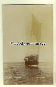 su1830 - The New Sailing Yacht Albertine, off the Coast of Hastings -  postcard