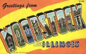 Greetings from Woodstock IL Unused
