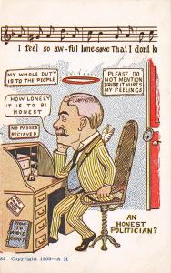 Comic~An Honest Politician? Awful Lonesome Song~Man With Halo & Angel Wings~AH