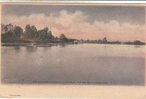 P1796 old hand colored peachblossom creek near easton maryland