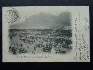 South Africa CAPE TOWN Saturday Market on the Parade c1902 UB Postcard by G.W.W.