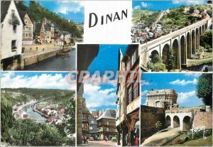 Modern Postcard Dinan Cotes North Square Lapport