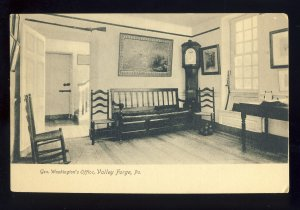 Valley Forge, Pennsylvania/PA Postcard, General George Washington's Office