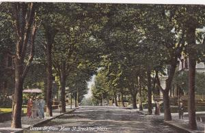 BROCKTON , Massachusetts , PU-1907 ; Green St. from Main St.
