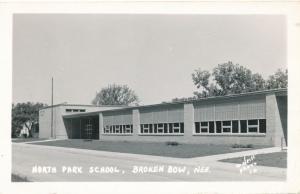 RPPC North Park School at Broken Bow, Custer County NE, Nebraska - pm 1955