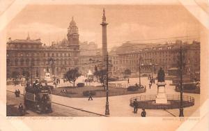 Scotland, UK Old Vintage Antique Post Card George Square Glasgow Unused