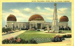 Planetarium, Griffith Park, Los Angeles, California, USA Space Post Cards Pos...