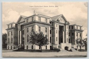 Guthrie Oklahoma~Logan County Courthouse~Little Tree on Corner~c1910 Postcard