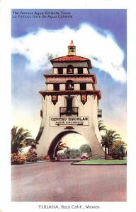 Mexico Old Vintage Antique Post Card Agua Caliente Tower Tijuana 1948