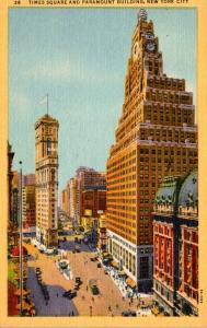 New York City Times Square and Paramount Building Curteich