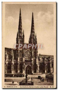 Postcard Old Bordeaux Cathedrale sT Andre