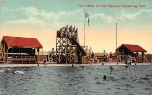 South Africa Durban open-air swimming bath the schute postcard