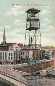 LOCKPORT , New York , 1900-10s ; Fire Alarm Tower