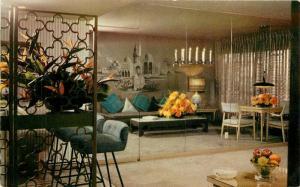 Crocker Hotel Sahara Las Vegas Nevada 1950s Mid Century Furniture Postcard 2633