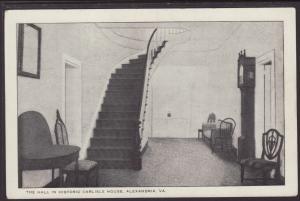 Hall,Carlisle House,Alexandria,VA Postcard