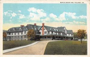 C45/ Pulaski Virginia Va Postcard 1920s Maple Shade Inn Hotel Building