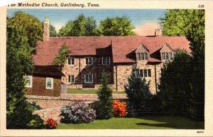 Gatlinburg TN Methodist Church Postcard unused 1930s/40s