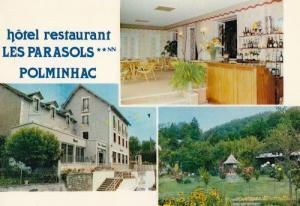 Los Parasols Polminhac Hotel Restaurant France 1970s  Postcard