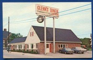 Gettysburg Pennsylvania pa Glenn's Diner Fried Chicken Postcard