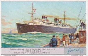 Liebig S1259 Building Transatlantic Liner No 6 Il viaggio di prova