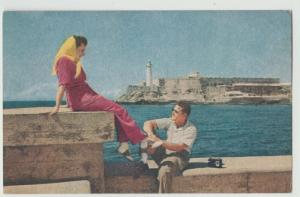 CUBA HAVANA PAN AMERICAN AIRLINES ADVERTISING MORRO CASTLE Postcard